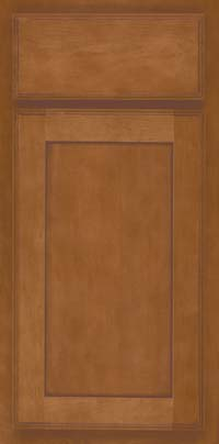 Square Recessed Panel - Veneer (AC4M) Maple in Praline w/Mocha Highlight - Base