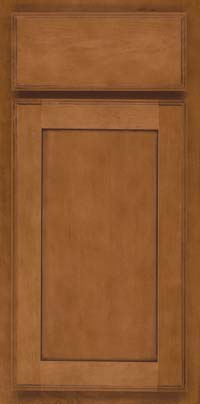 Square Recessed Panel - Veneer (AC4M) Maple in Praline w/Onyx Glaze - Base