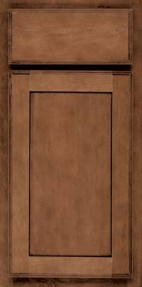 Square Recessed Panel - Veneer (AC4M) Maple in Rye w/Onyx Glaze - Base