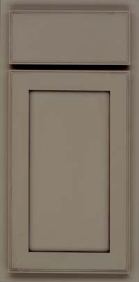 Square Recessed Panel - Veneer (AC4M) Maple in Sage w/Cocoa Glaze - Base