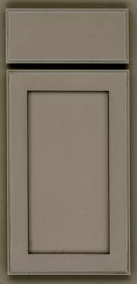 Square Recessed Panel - Veneer (AC4M) Maple in Sage w/Onyx Glaze - Base