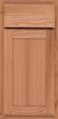 Square Recessed Panel - Veneer (AC4O) Oak in Natural - Base