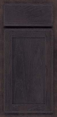 Square Recessed Panel - Veneer (AC4O) Oak in Slate - Base