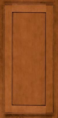 Square Recessed Panel - Veneer (AC4M) Maple in Chestnut w/Onyx Glaze - Wall