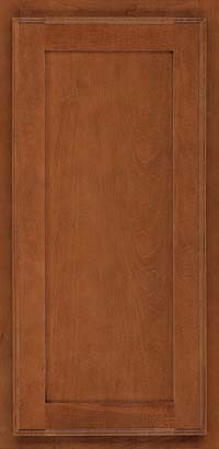 Square Recessed Panel - Veneer (AC4M) Maple in Cinnamon - Wall