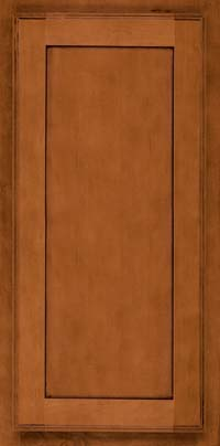 Square Recessed Panel - Veneer (AC4M) Maple in Cinnamon w/Onyx Glaze - Wall