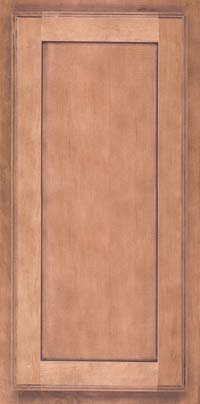 Square Recessed Panel - Veneer (AC4M) Maple in Ginger w/Sable Glaze - Wall