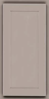 Square Recessed Panel - Veneer (AC4M) Maple in Pebble Grey w/ Coconut Glaze - Wall