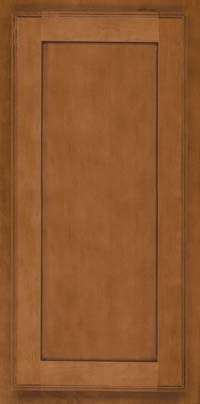 Square Recessed Panel - Veneer (AC4M) Maple in Praline w/Onyx Glaze - Wall