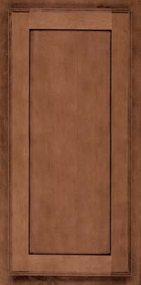 Square Recessed Panel - Veneer (AC4M) Maple in Rye w/Onyx Glaze - Wall