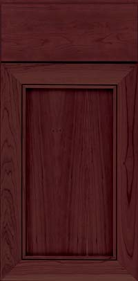 Square Recessed Panel - Veneer (AC1C) Cherry in Cabernet - Base
