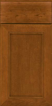 Square Recessed Panel - Veneer (AC1C) Cherry in Golden Lager - Base