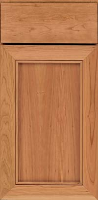 Square Recessed Panel - Veneer (AC1C) Cherry in Honey Spice - Base