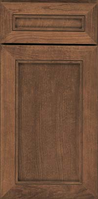 Square Recessed Panel - Veneer (AC1C) Cherry in Husk - Base