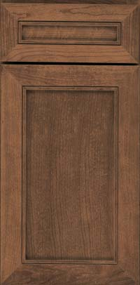 Square Recessed Panel - Veneer (AC1C) Cherry in Husk Suede - Base