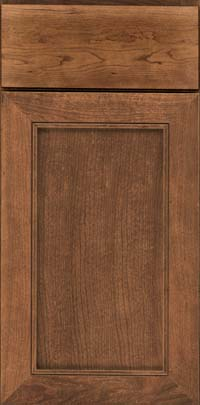 Square Recessed Panel - Veneer (AC1C) Cherry in Rye - Base