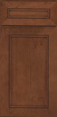 Square Recessed Panel - Veneer (AC1C) Cherry in Rye w/Sable Glaze - Base