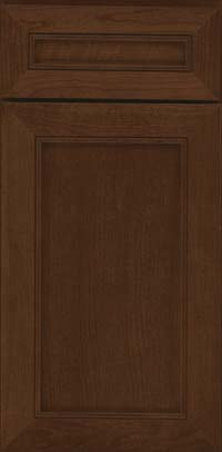 Square Recessed Panel - Veneer (AC1C) Cherry in Saddle Suede - Base