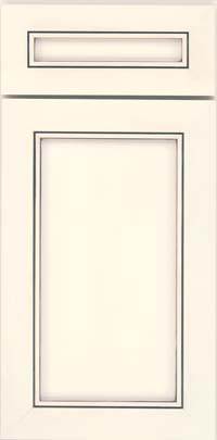 Square Recessed Panel - Veneer (AC1M) Maple in Canvas w/ Cinder Glaze - Base