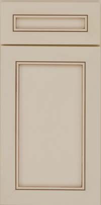 Square Recessed Panel - Veneer (AC1M) Maple in Canvas w/Cocoa Glaze - Base