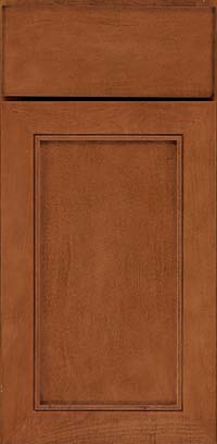 Square Recessed Panel - Veneer (AC1M) Maple in Chestnut - Base