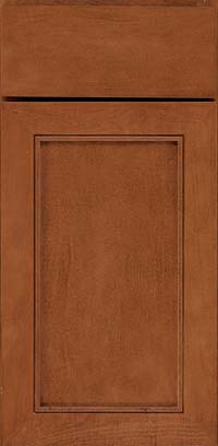 Square Recessed Panel - Veneer (AC1M) Maple in Cinnamon - Base