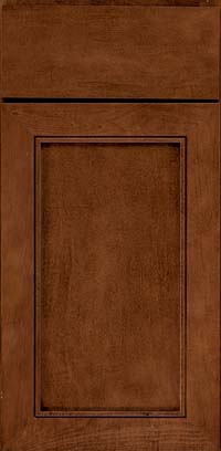 Square Recessed Panel - Veneer (AC1M) Maple in Cognac - Base