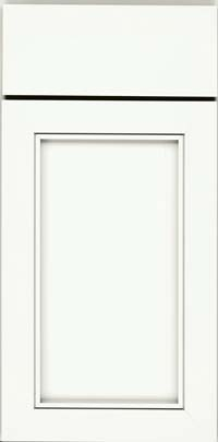 Square Recessed Panel - Veneer (AC1M) Maple in Dove White - Base