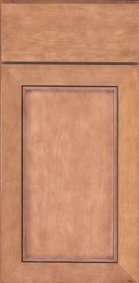 Square Recessed Panel - Veneer (AC1M) Maple in Ginger w/Sable Glaze - Base