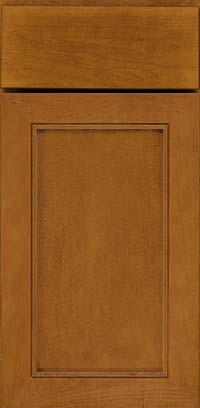 Square Recessed Panel - Veneer (AC1M) Maple in Golden Lager - Base