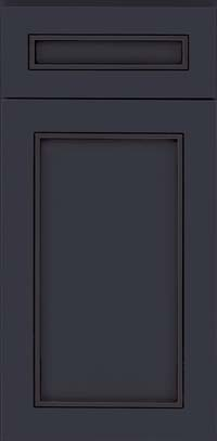 Square Recessed Panel - Veneer (AC1M) Maple in Midnight w/ Onyx Glaze - Base