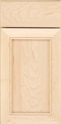 Square Recessed Panel - Veneer (AC1M) Maple in Parchment - Base