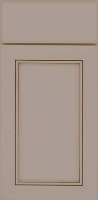 Square Recessed Panel - Veneer (AC1M) Maple in Pebble Grey w/ Cocoa Glaze - Base