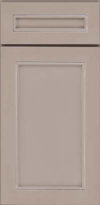 Square Recessed Panel - Veneer (AC1M) Maple in Pebble Grey w/ Coconut Glaze - Base