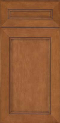 Square Recessed Panel - Veneer (AC1M) Maple in Praline w/Mocha Highlight - Base