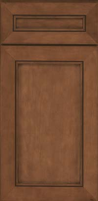 Square Recessed Panel - Veneer (AC1M) Maple in Rye w/Sable Glaze - Base