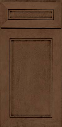 Square Recessed Panel - Veneer (AC1M) Maple in Saddle Suede - Base