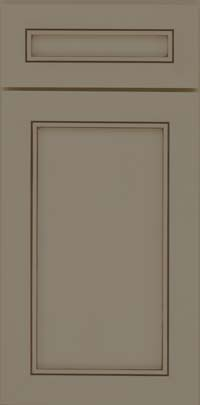 Square Recessed Panel - Veneer (AC1M) Maple in Sage w/Cocoa Glaze - Base