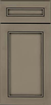 Square Recessed Panel - Veneer (AC1M) Maple in Sage w/Onyx Glaze - Base