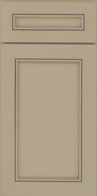 Square Recessed Panel - Veneer (AC1M) Maple in Willow w/ Cinder Glaze - Base