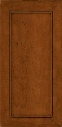 Square Recessed Panel - Veneer (AC1C) Cherry in Antique Chocolate w/Mocha Glaze - Wall