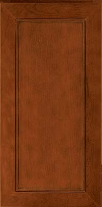 Square Recessed Panel - Veneer (AC1C) Cherry in Autumn Blush w/Onyx Glaze - Wall