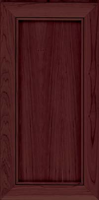 Square Recessed Panel - Veneer (AC1C) Cherry in Cabernet - Wall