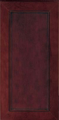 Square Recessed Panel - Veneer (AC1C) Cherry in Cabernet w/Onyx Glaze - Wall