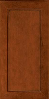 Square Recessed Panel - Veneer (AC1C) Cherry in Cinnamon w/Onyx Glaze - Wall