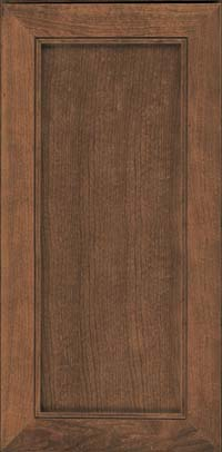 Square Recessed Panel - Veneer (AC1C) Cherry in Husk Suede - Wall