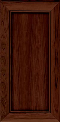 Square Recessed Panel - Veneer (AC1C) Cherry in Kaffe - Wall