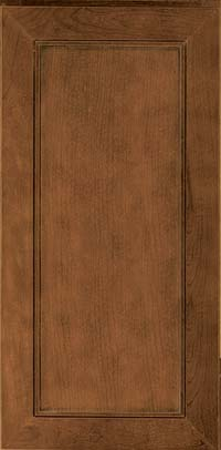 Square Recessed Panel - Veneer (AC1C) Cherry in Rye w/Onyx Glaze - Wall