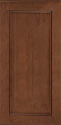 Square Recessed Panel - Veneer (AC1C) Cherry in Rye w/Sable Glaze - Wall