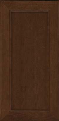 Square Recessed Panel - Veneer (AC1C) Cherry in Saddle Suede - Wall